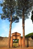 Entrance to Grande Palestra in ancient Pompeii Stock Image