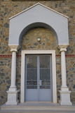 Entrance to Greek Orthodox church Stock Photo