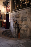 Entrance to the Grotto of the Nativity, Bethlehem Stock Photo