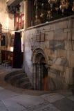 Entrance to the Grotto of the Nativity, Bethlehem Stock Photo
