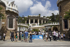Entrance to the Guell Park Barcelona, Spain Stock Images