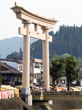 Entrance to Hachimangu shrine in Takayama, Japan Stock Images