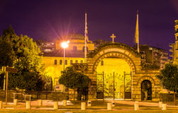 Entrance to the Hagia Sophia church in Thessaloniki Royalty Free Stock Photos