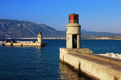 Entrance to the harbor of Corinth Stock Photography