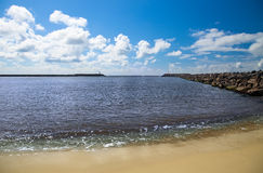 Entrance to the harbor Stock Photography
