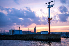 The entrance to the harbor Stock Photo