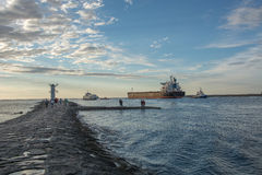 The entrance to the harbor, Swinoujscie Stock Photo