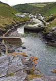 The entrance to the harbour at Boscastle on the North Cornwall Coast. England Royalty Free Stock Image