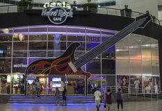 Entrance to Hard Rock Cafe at Forum in Cancun Royalty Free Stock Photo