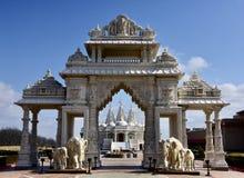 Entrance to Hindu House of Worship stock image