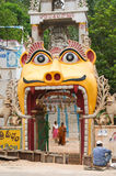 Entrance to hindu temple in Andhra, India Stock Photos