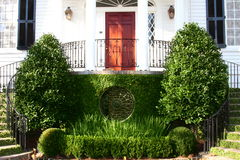 An entrance to a historic mansion in downtown Char Stock Photography