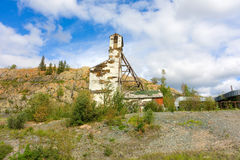 The entrance to an historic mine in the northwest territories Stock Photography