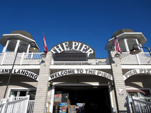Entrance to the Historic Old Orchard Beach Pier Stock Image