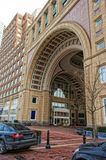 Entrance to historic rowes wharf in boston Royalty Free Stock Images