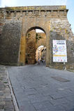Entrance to the historic town of Montepulciano in the Tuscan co stock photos