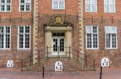 Entrance to a historical building in Jever Stock Images
