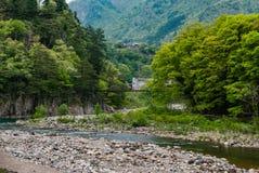 Entrance to Historical village of Shirakawa-go Stock Image