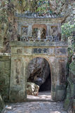 Entrance to Hoa Nghiem and Huyen Khong caves in Marble mountains, Vietnam - Translation: Gate to Huyen  Khong Royalty Free Stock Photos