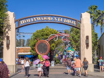 Entrance to Hollywood Studios at Disney California Adventure Park Royalty Free Stock Images