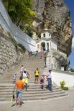 At the entrance to the Holy Assumption cave monastery. Bakhchisarai, Crimea Royalty Free Stock Photos