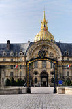 Entrance to Hotel des Invalides, Paris Royalty Free Stock Photo