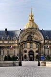 Entrance to Hotel des Invalides, Paris royalty free stock photo