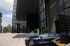 Entrance to hotel Hyatt -  Düsseldorf. New hotel in Düsseldorf  - Hyatt Regency Dusseldorf - Germany Stock Image