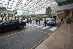 Entrance to the hotel Marina Bay Sands in Singapore Stock Photos