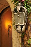 Entrance to hotel old amazing lamp Royalty Free Stock Images