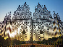 Entrance to House of Parliament, New Delhi. Gates at entrance to House of Parliament, New Delhi, India Stock Image