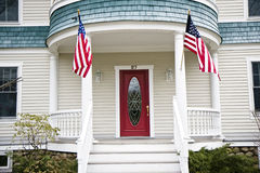 Entrance to a house in USA Royalty Free Stock Photography