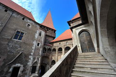 Entrance to Hunedoara medieval castle Royalty Free Stock Photos