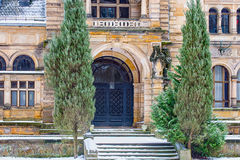 Entrance to the hunting Castle of Hummelshain Royalty Free Stock Images