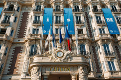Entrance to the InterContinental Carlton Cannes hotel in Cannes, Royalty Free Stock Photo
