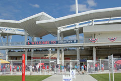 Entrance to JetBlue Park in Fort Myers, Florida Royalty Free Stock Photos
