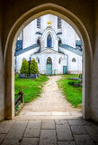 Entrance to John Nepomuk church, Czech Republic Royalty Free Stock Images