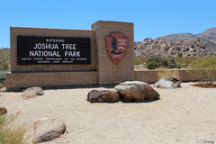 Entrance to Joshua Tree National Park Royalty Free Stock Photos