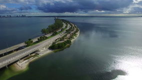 Entrance to Key Biscayne stock video footage
