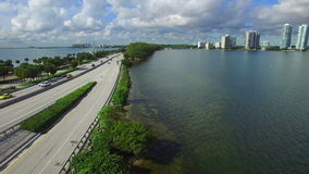Entrance to Key Biscayne stock video