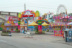 Entrance to Kiddie Land at the Indiana State Fair in Indianapoli. INDIANAPOLIS, INDIANA � AUGUST 19: Entrance to Kiddie Land and rides on the Midway of the Stock Photography