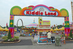 Entrance to Kiddie Land and rides at the Indiana State Fair in I Royalty Free Stock Photos
