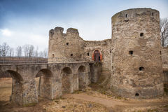Entrance to Koporye Fortress Stock Photo