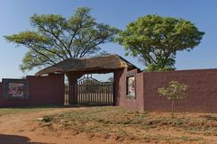 Entrance to Kudus Rus Game Lodge Stock Photography