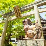 Entrance to Kumano Shrine, Kyoto stock images