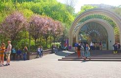 Entrance to Kyiv funicular, Ukraine Stock Photo