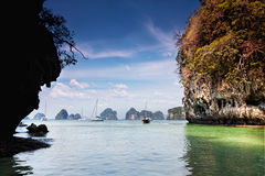 Entrance to a lagoon on the island Hong, Royalty Free Stock Photography