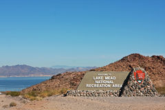 Entrance to Lake Mead National Recreation Area Royalty Free Stock Photography
