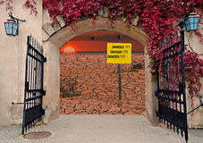 Entrance to the land of Global Warming Royalty Free Stock Photo