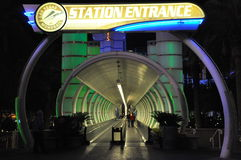 Entrance to Las Vegas monorail Royalty Free Stock Photography